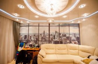 Плюсы и минусы многоуровневого натяжного потолка с подсветкой