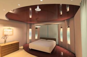 Какие натяжные потолки выбрать в спальню?